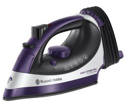 RUSSELL HOBBS Easy Store Pro Plug & Wind 23780 Steam Iron - Purple & White