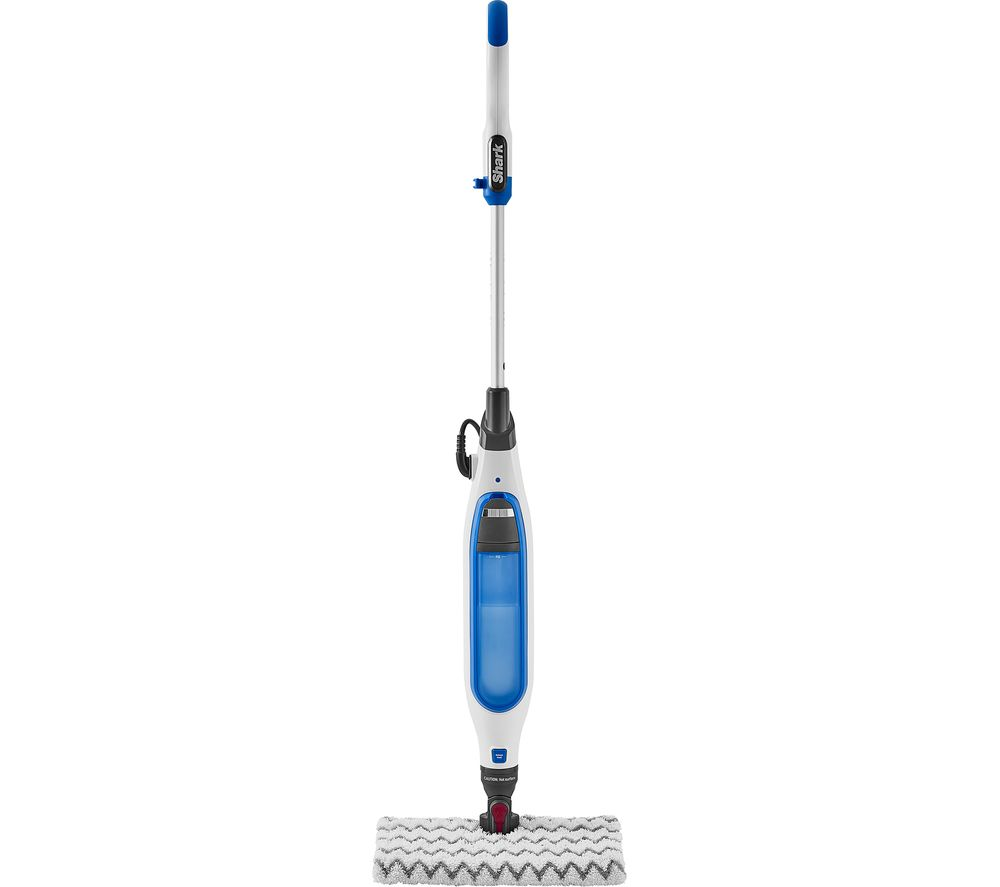 Shark S6001UK Klik N Flip Steam Mop - White & Blue, White