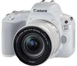 CANON EOS 200D DSLR Camera with EF-S 18-55 mm f/4-5.6 IS STM Lens - White