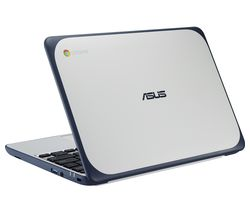 "ASUS C202 11.6"" Intel® Celeron™ Chromebook - 16 GB eMMC, White & Blue"