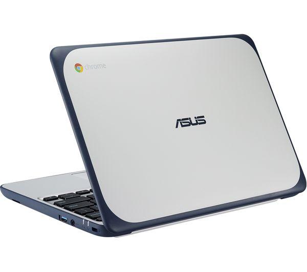"Image of ASUS C202 11.6"" Chromebook - White & Blue"