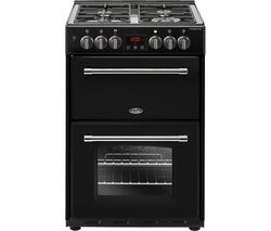 BELLING Farmhouse 60DF Dual Fuel Cooker - Black