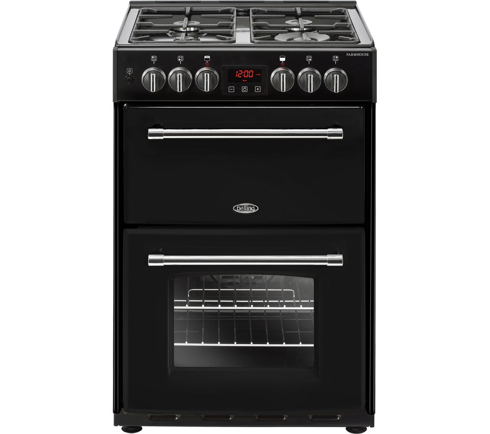 BELLING Farmhouse 60DF Dual Fuel Cooker - Black, Black