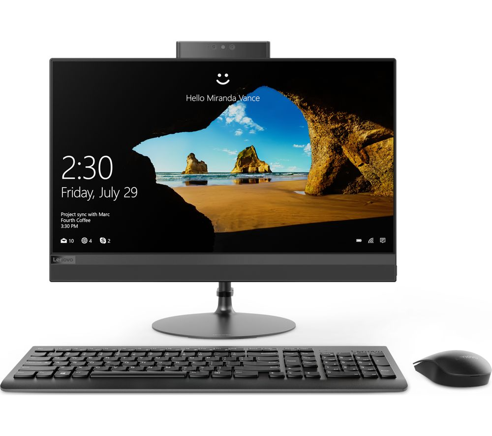 Compare prices for Lenovo IdeaCentre 520-22AST 21.5 Inch All-In-One PC - Black