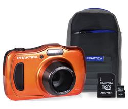 PRAKTICA Luxmedia WP240 Compact Camera & Accessories Bundle - Orange