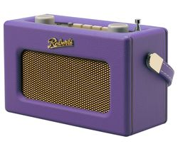 ROBERTS Revival Uno Retro Portable Clock Radio - Purple Haze