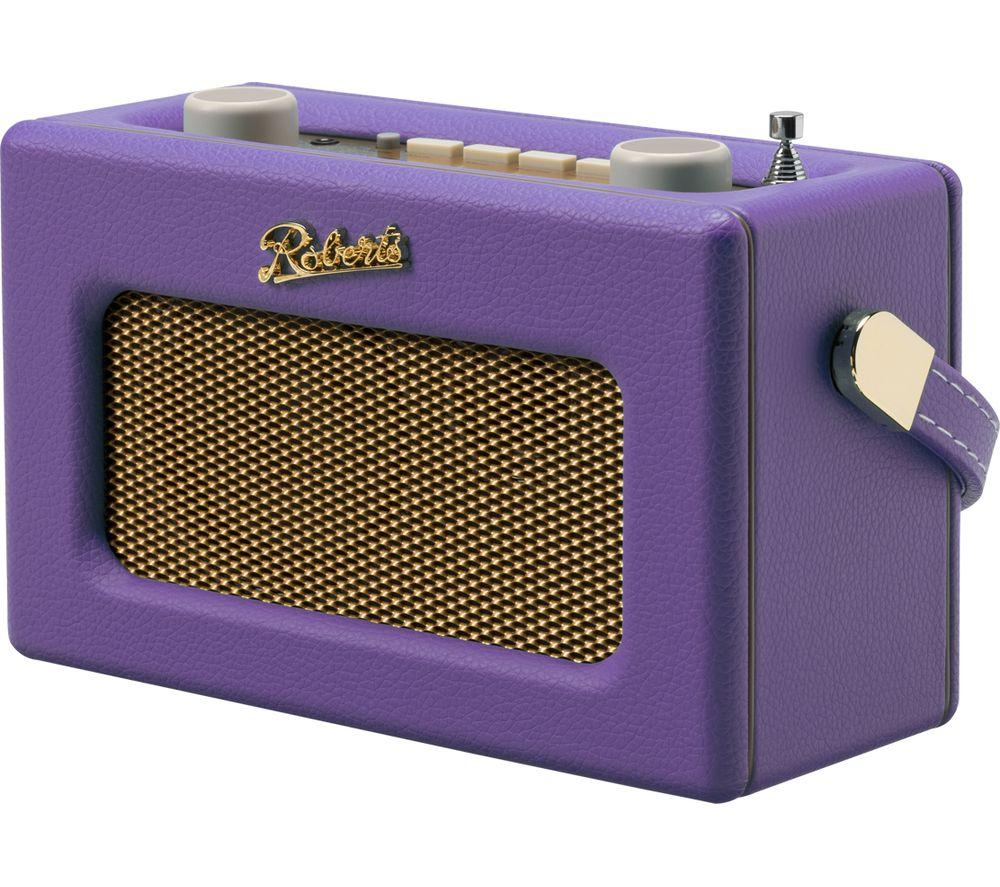 Compare prices for Roberts Revival Uno Retro Portable Clock Radio - Purple