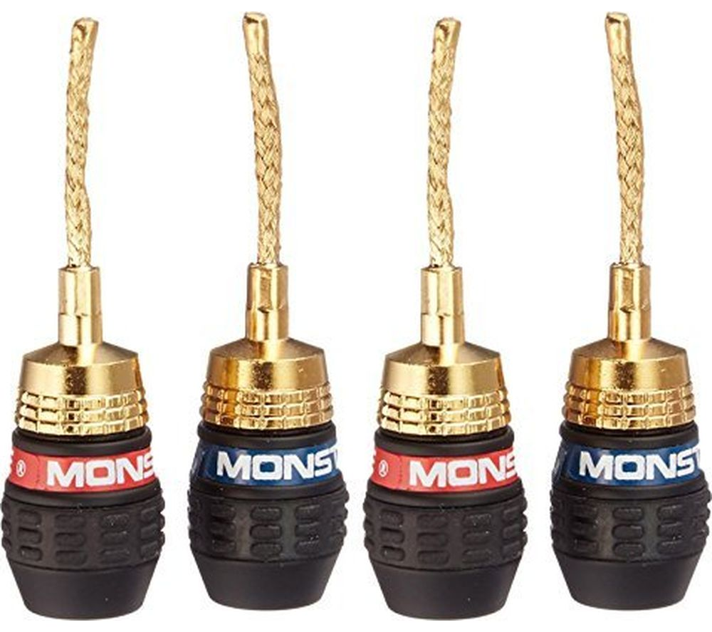 MONSTER QuickLock MKII Gold Flex Pin Connector Pair - Pack of 2