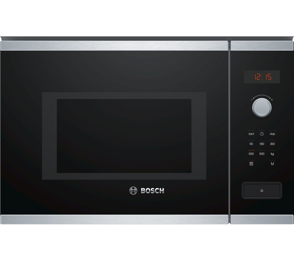 BOSCH BFL553MS0B Built-in Solo Microwave - Stainless Steel, Stainless Steel