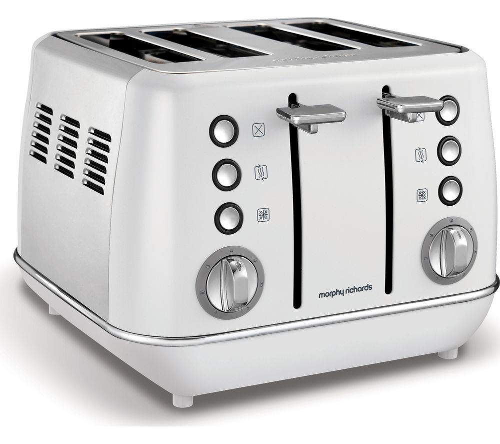 MORPHY RICHARDS Evoke One 4-Slice Toaster - White