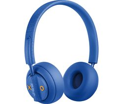 JAM Out There HX-HP303BL Wireless Bluetooth Noise-Cancelling Headphones - Blue