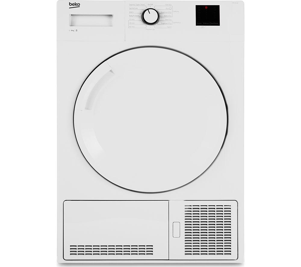 Beko Tumble Dryer DTBC8001W 8 kg Condenser  - White, White