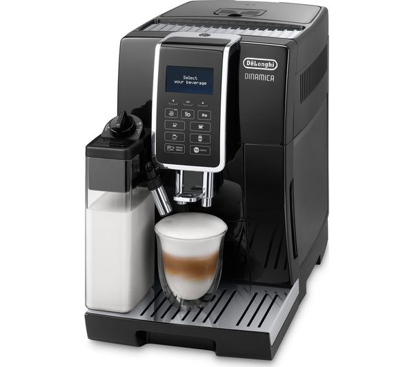 Image of DELONGHI Dinamica ECAM 350.55.B Bean to Cup Coffee Machine - Black