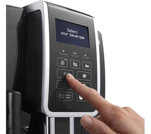 DELONGHI Dinamica ECAM 350.55.B Bean to Cup Coffee Machine Black