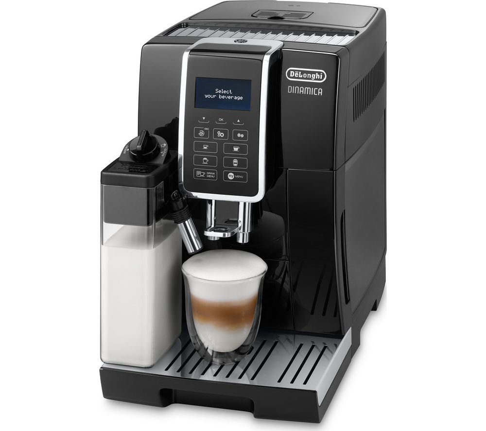 DELONGHI Dinamica ECAM 350.55.B Bean to Cup Coffee Machine – Black, Black