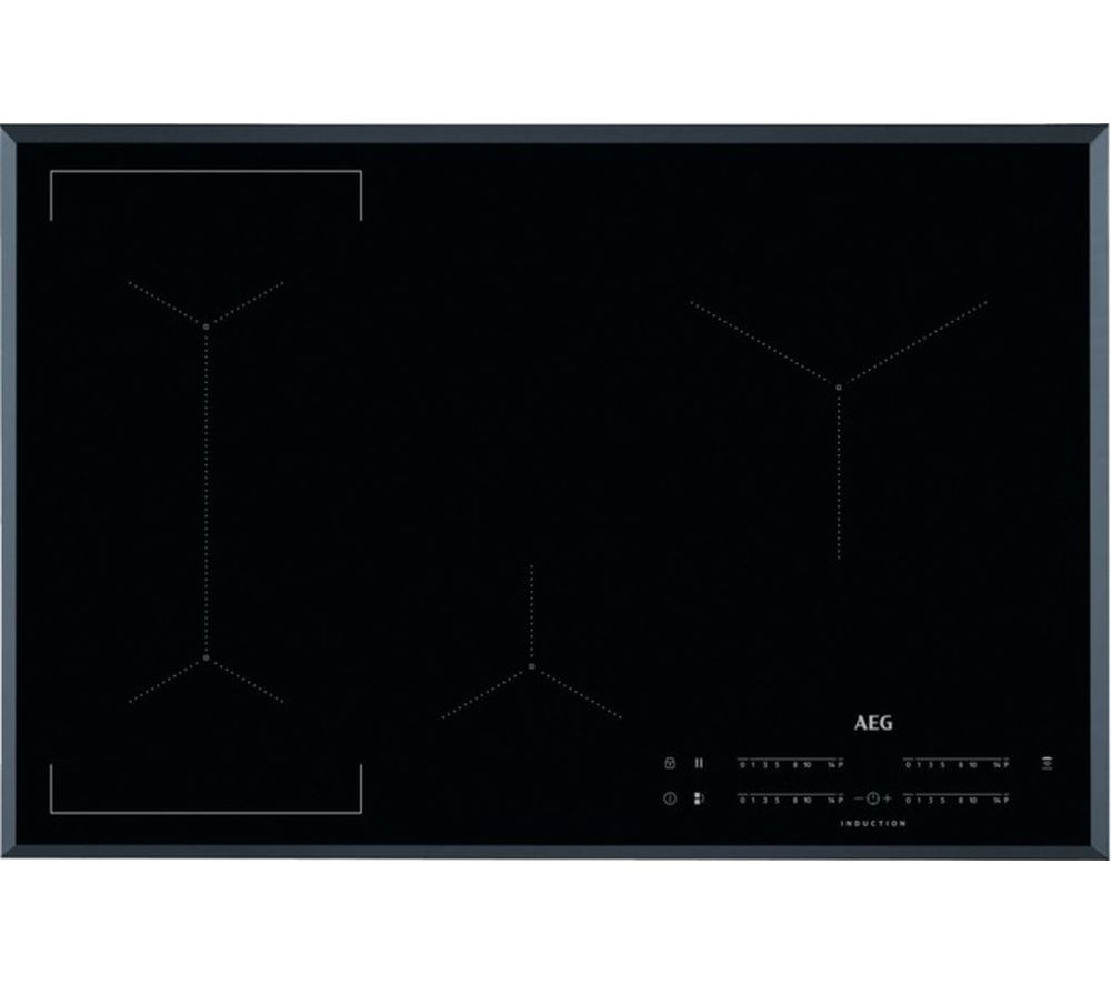 Image of AEG IKE84441FB Electric Induction Hob - Black, Black
