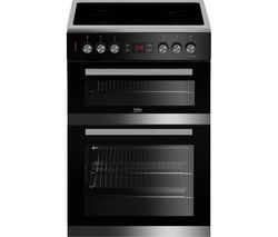 BEKO Pro JDC683X 60 cm Electric Ceramic Cooker - Stainless Steel & Black