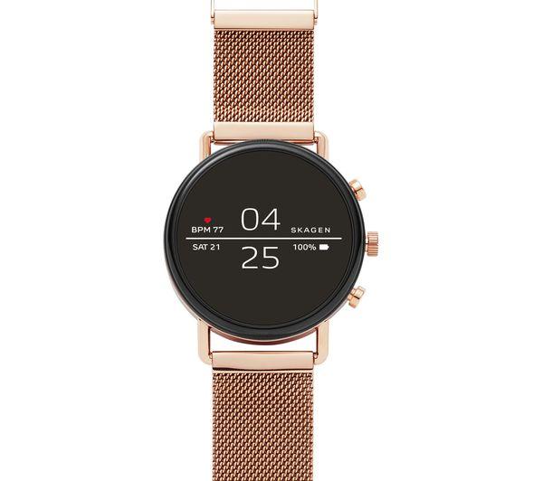 Image of SKAGEN Falster 2 Smartwatch - Rose Gold, Metal Strap