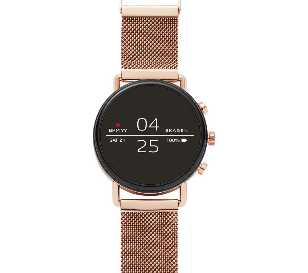 SKAGEN Falster 2 Smartwatch - Rose Gold, Metal Strap