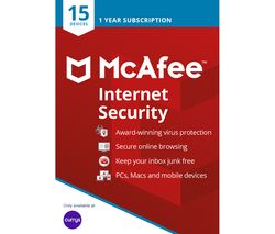 MCAFEE Internet Security 2019 - 1 year for 15 devices