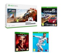 MICROSOFT Xbox One S with Forza Horizon 4, FIFA 19, Tekken 7 & Project Cars 2 Bundle