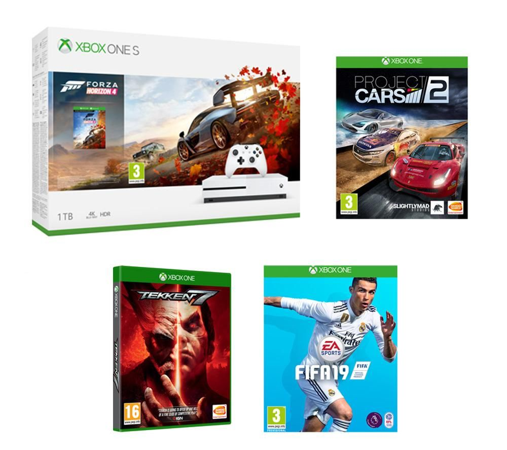 buy microsoft xbox one s with forza horizon 4 fifa 19. Black Bedroom Furniture Sets. Home Design Ideas