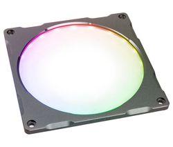 Halos Lux Digital RGB LED Fan Frame - 140 mm, Aluminium Gunmetal Grey