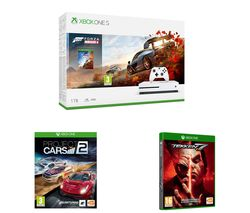 MICROSOFT Xbox One S, Forza Horizon 4, Apex Legends, Project Cars 2 & Tekken 7 Bundle