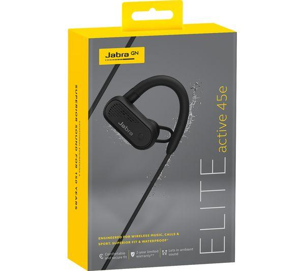 e57b6647322 JABRA Elite Active 45e Wireless Bluetooth Sports Earphones - Black