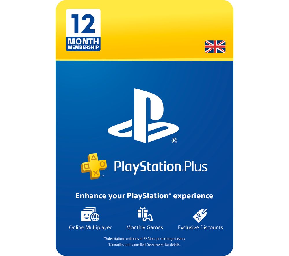 PLAYSTATION NET Plus 12 Month Subscription