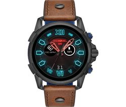 Full Guard 2.5 DZT2009 Smartwatch - Brown, Leather Strap