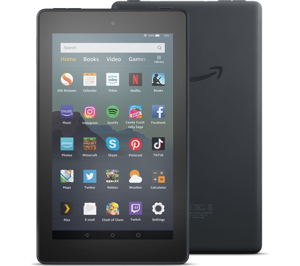 Image of AMAZON Fire 7 Tablet (2019) - 16 GB, Black, Black