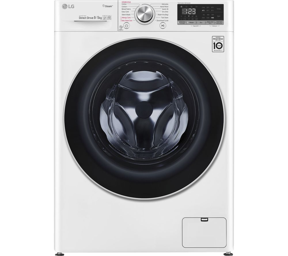 LG Vivace FWV595WS WiFi-enabled 9 kg Washer Dryer - White