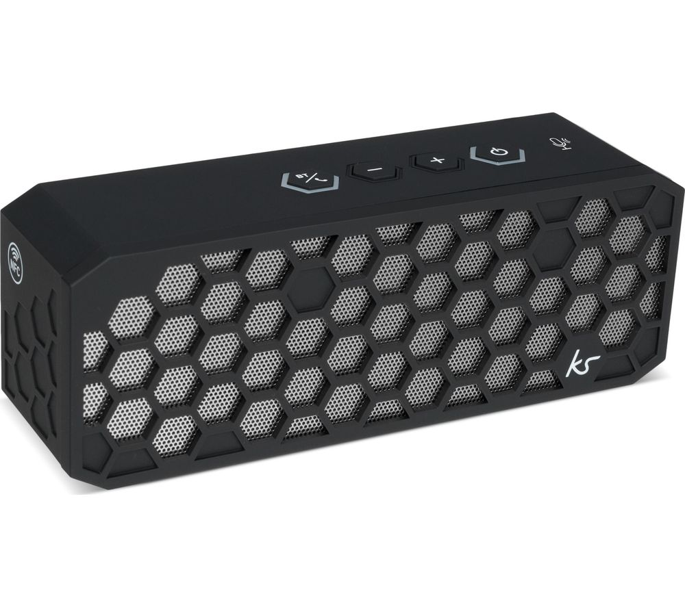 Hive 2+ Portable Bluetooth Speaker - Black, Black
