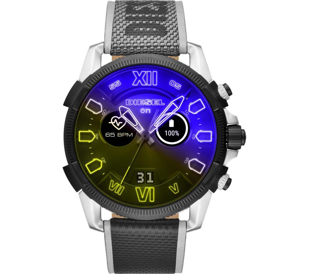 DIESEL Full Guard 2.5 DZT2012 Smartwatch - Silver, Nylon Strap