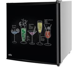 KUHLA KTTF4BGB-1001 Mini Fridge - Black, Fixed Hinge