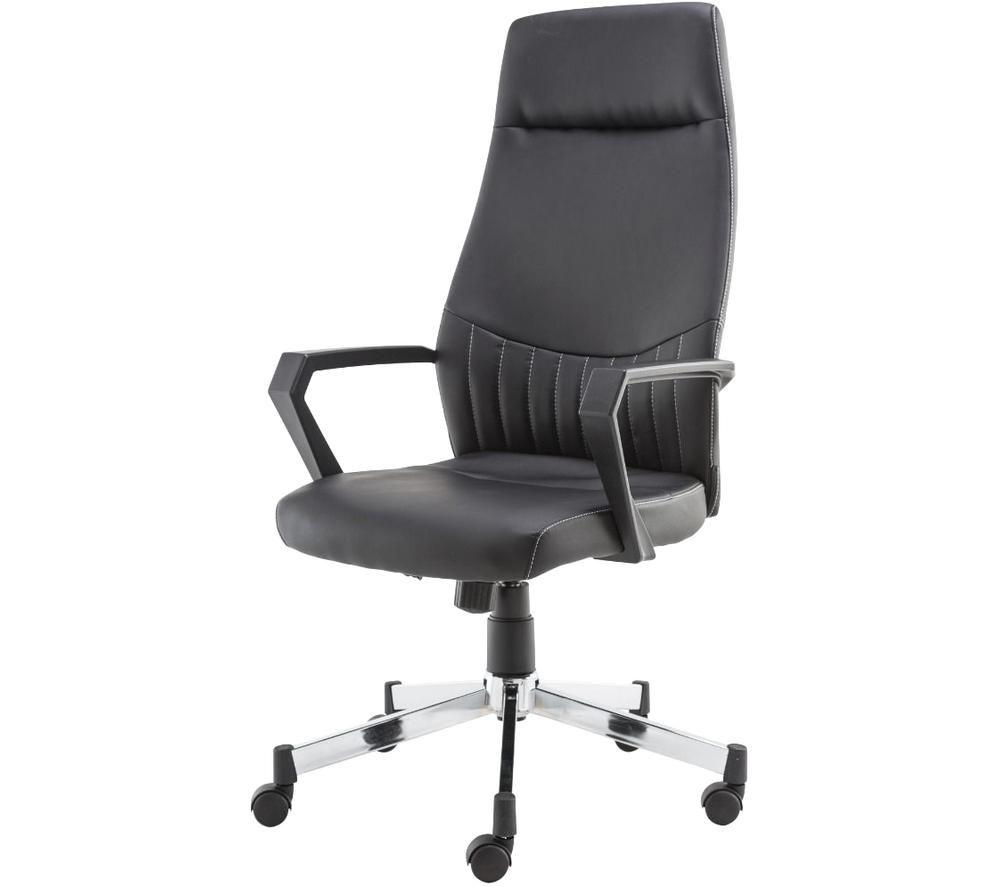 ALPHASON Brooklyn High Back Faux-Leather Operator Chair - Black