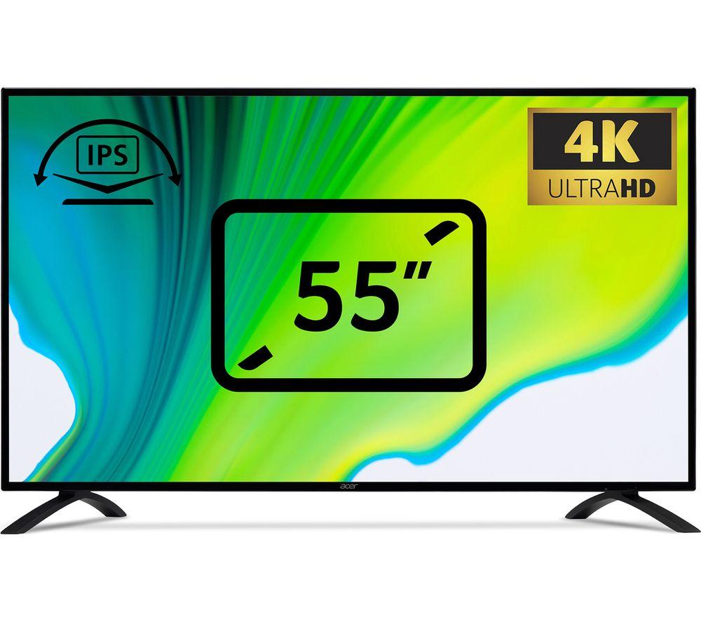 ACER EB550K Ultra HD 55� IPS Monitor - Black, Black