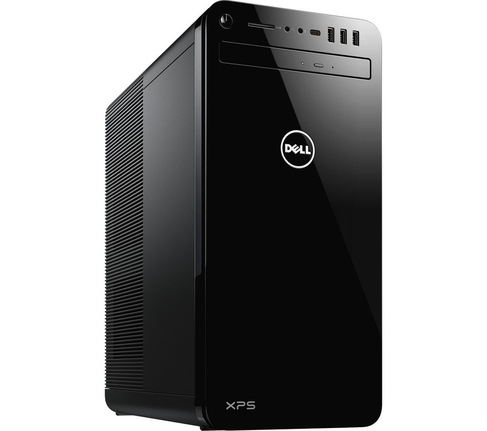 Image of DELL XPS DT 8930 Desktop PC - Intelu0026regCore™ i5, 1 TB HDD & 256 GB SSD, Black, Black