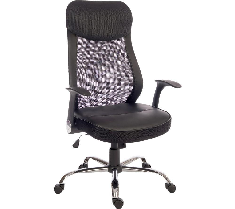 TEKNIK Curve Faux-Leather Tilting Executive Chair - Black