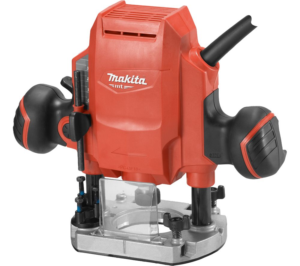 Image of MAKITA MT Series M3601 Plunge Router - Red, Red