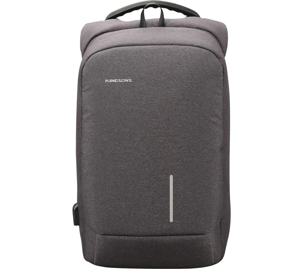 "Image of KINGSONS KS3149W-DG〃153 15.6"" Laptop Backpack - Dark Grey, Grey"