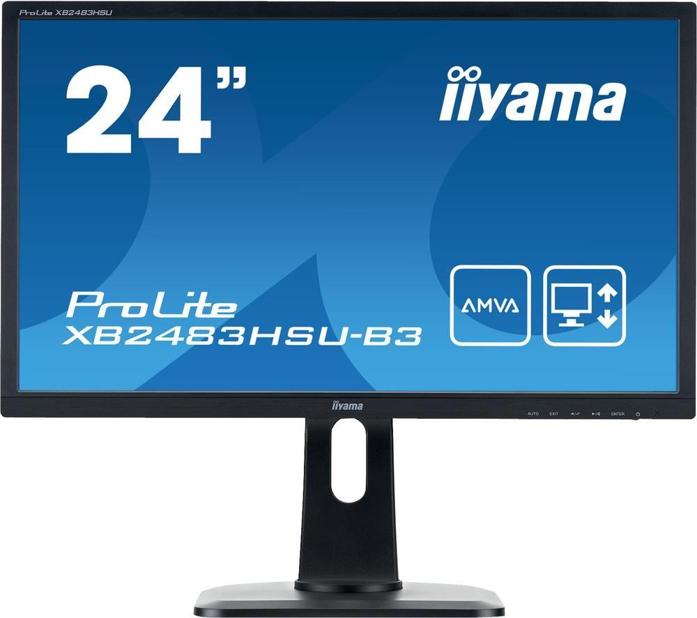 "Image of IIYAMA ProLite XB2483HSU-B3 Full HD 24"" LCD Monitor - Black, Black"