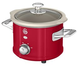 SWAN Retro SF17011 Slow Cooker - Red Best Price, Cheapest Prices