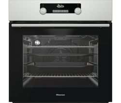 BSA5221AXUK Electric Oven with Even Bake & Steam Add - Black & Stainless Steel