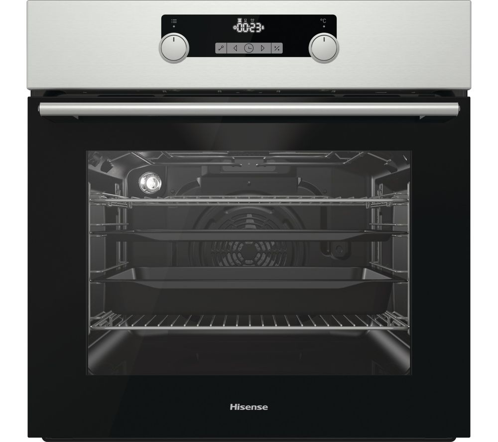 HISENSE BSA5221AXUK Electric Oven with Even Bake & Steam Add - Black & Stainless Steel