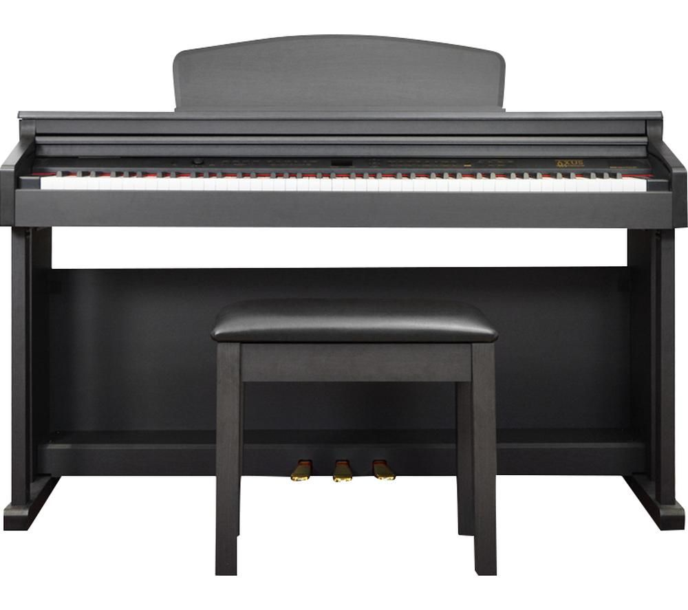 AXUS D2 Digital Piano with Bench - Black