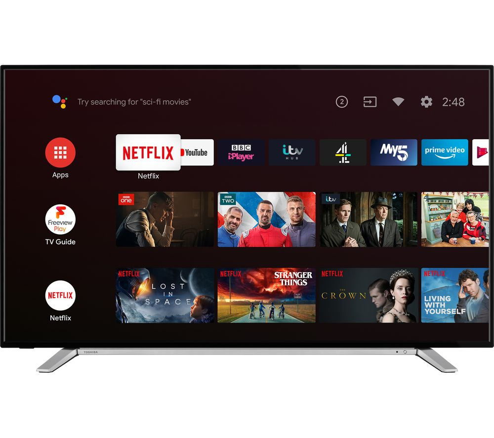 50″ TOSHIBA 50UA2B63DB  Smart 4K Ultra HD HDR LED TV with Google Assistant