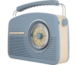 Vintage A60010VDABBL Portable DAB+/FM Radio - Blue