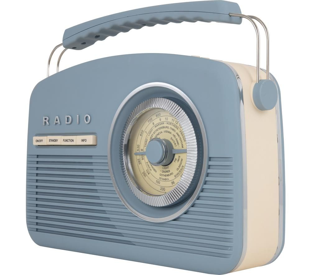 Image of AKAI Vintage A60010VDABBL Portable DABﱓ Radio - Blue, Blue